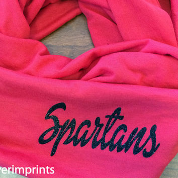 SPARTANS t-shirt infinity scarf, or your choice of mascot