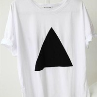 trangle print tee t-shirt from mancphoebe