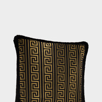Versace Greca Key Jacquard Cushion - Home Collection | US Online Store