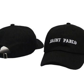758ee0d92 I FEEL LIKE PABLO Hat Kanye West Yeezy Yeezus THE LIFE OF PABLO Embroidered  Cap Black SAINT PABLO Fitted Trucker Sun Hat