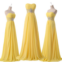 2015 PLUS SIZE Graduation Long Evening Party LACE Prom Bridesmaid Wedding Dress