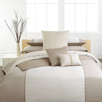 Calvin Klein Champagne Standard Quilted Sham - Bedding Collections - Bed & Bath - Macy's