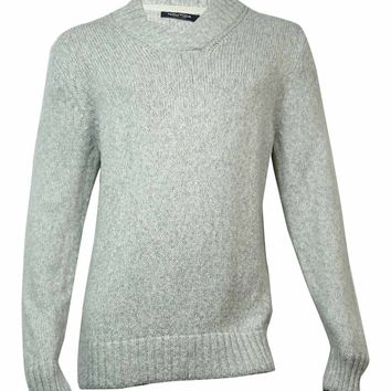 Nautica Men's Shawl Collar Sweater (XL, Limestone)