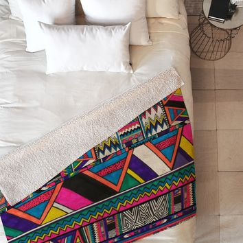 Kris Tate Aztec Colors Fleece Throw Blanket