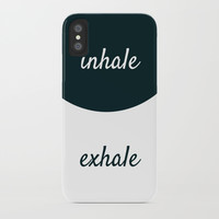 INHALE THE FUTURE - EXHALE THE PAST iPhone Case by Love from Sophie