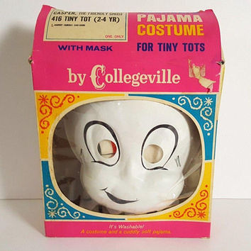 Collegeville Pajama Costume Casper The Friendly Ghost Original Box