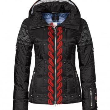 Down Jacket Gala, Black/Red | Ski Jackets for Women | Bogner