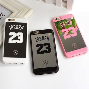 Sport Style Jordan 23 Coque Case For Iphone 7 SE 5 5s Back Cover Lover Phone Mirror Ca
