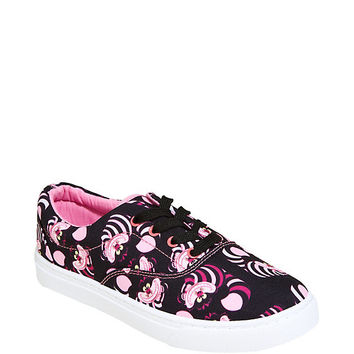 Disney Alice In Wonderland Cheshire Cat Allover Print Lace-Up Sneakers