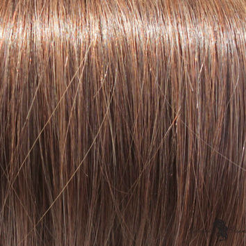 """18"""" Clip On Human Hair Extensions: Light Ash Brown No. 5"""