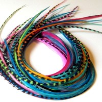 Hair Feather Extensions mixed lot of 10 - $12.59 - Handmade Crafts by Hair Feather Extensions and Feather Earrings