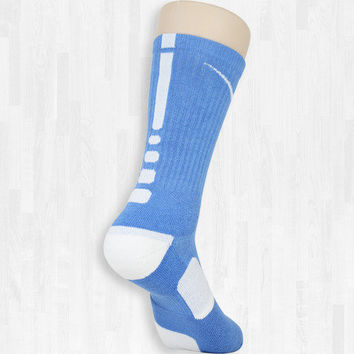 UNC Blue/White Elite Socks | Rock 'Em Apparel