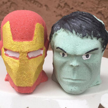 Iron Man Hulk Bath Bombs