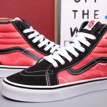 VANS SK8-Hi lightning Print Canvas Flats Ankle Boots Sneakers Sport Shoes