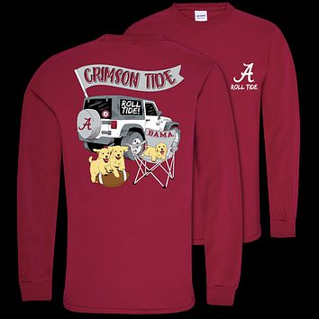 Southern Couture Classic Alabama Crimson Tide Jeep Long Sleeve T-Shirt