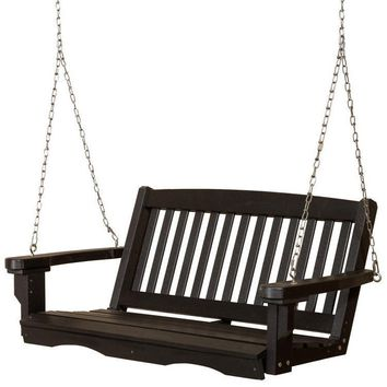 Wildridge Classic 4 ft. Recycled Plastic Mission Porch Swing