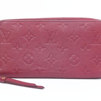LOUIS VUITTON Zippy Wallet Long Wallet M60549 Monogram Empreinte Purple