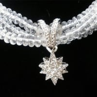 Shakira Caine Crystal Necklace Franklin Mint White Star Retired Boxed