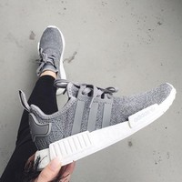 """Women """"Adidas"""" NMD Boost Casual Sports Shoes Gray"""