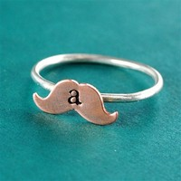 Mustache Stacking Ring - Spiffing Jewelry