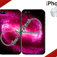 Best Friends iPhone Case - iPhone 4 Case or iPhone 5 Case - Galaxy Nebula - iPhone Case - Two Case Set