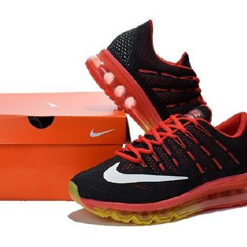 Ready Stock Nike Air Max 2016 For Sale Yellow Red Black Running Shoes Sport Running Shoes
