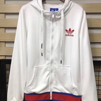 adidas Originals Embellished Arts Bomber Jacket With Butterfly Embroidery Hoodie Zipper