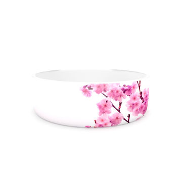 "Monika Strigel ""Cherry Sakura"" Pink Floral Pet Bowl"