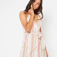 Yaasmin Dress - Orange Stripe