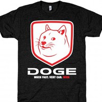 DOGE White-Unisex Athletic Black T-Shirt