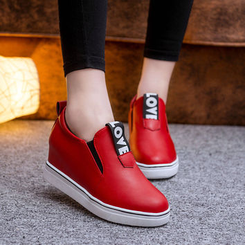 Hot Sale Comfort On Sale Stylish Hot Deal Casual Summer Low-cut Korean Height Increase Shoes Thick Crust Alphabet Sneakers [9432944010]