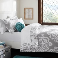 grey ikat medallion bedding - Google Search