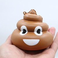 Cute Rubber Car Ornaments Auto Interior Decorations Poo Squishy Toys Squeeze Ornament Car-Styling Charm Kids Christmas Gifts