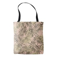 Palm leaf tropical tote