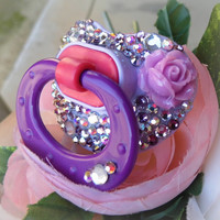 Bling Rhinestone Pacifier Paci Binky NUK Baby Pacifier Novelty Item