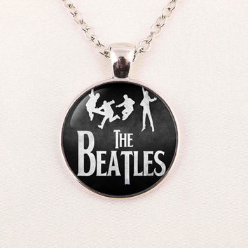 The Beatles Fashion Rock Band Pendant Glass Necklaces