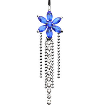 Enchanting Flower Chandelier Belly Button Ring