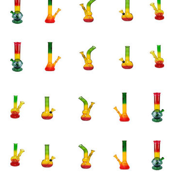 Rasta Bongs / Water Pipes / 420 / Weed Nail Decals / Nail Art / Nail Design