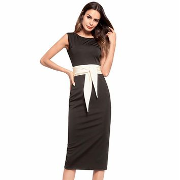 Luxury O-neck Sleeveless Backless Gored Cocktail Gowns Slim Tea Length A-line Party Dress