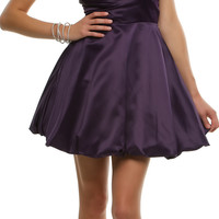 Purple Pleated Perfection Strapless Cocktail Dress - Unique Vintage - Prom dresses, retro dresses, retro swimsuits.