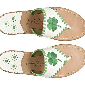 Exclusive Shamrock Sandal White - Jack Rogers USA
