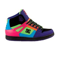 Womens DC Rebound Hi Skate Shoe, BlackMulti  Journeys Shoes