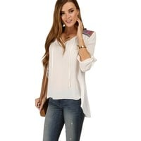 Sale-white Resort Peasant Top