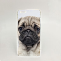 Popular Pug Hard transparent Cover cell phone Case for iPhone 4 4S 5 5S 5C 6 6S Plus 6SPlus
