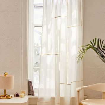 Chloe Patchwork Gauze Curtain | Urban Outfitters