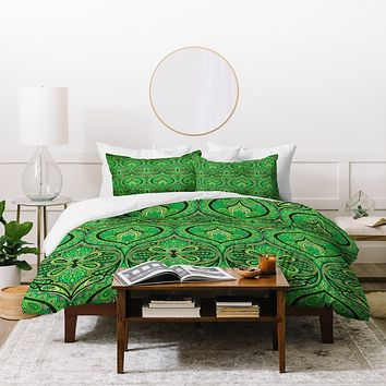 Aimee St Hill Ogee Green Duvet Cover