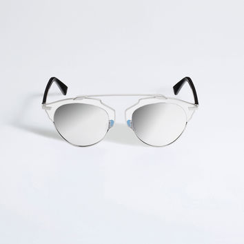 Dior - So Real Bleu Black And Silver Gold In Crystal Sunglasses