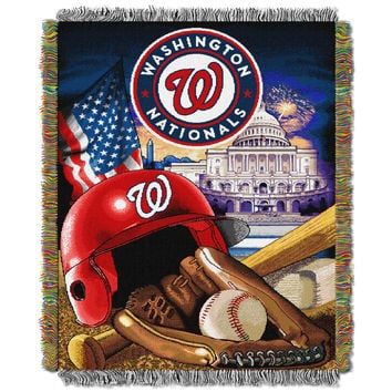 "Nationals  """"Home Field Advantage"""" 48x60 Tapestry Throw"