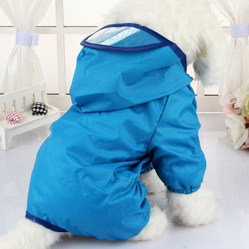 Dog Clothes for Dogs Raincoat Waterproof Overalls Goods for Pets Poncho Rain Umbrella Coats CW023