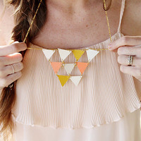 Sincerely, Kinsey: DIY Golden Geometric Necklace
